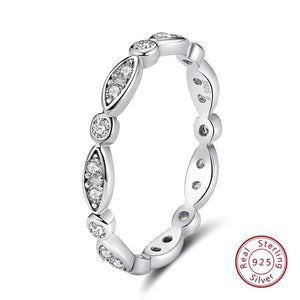 Cubic Zircon Round Finger Ring