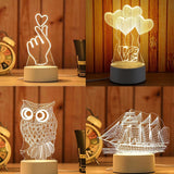 Creative 3D LED Light Table Lamp