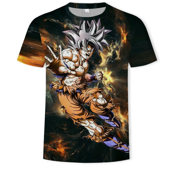 Super Saiyan 3D Anime Dragon Ball T Shirt
