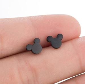Stainless Steel Mickey Earrings
