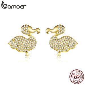 Raphus Catullus Gold Color Stud Earrings