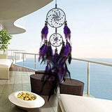 Purple Feather Wall Hanging Dream Catchers