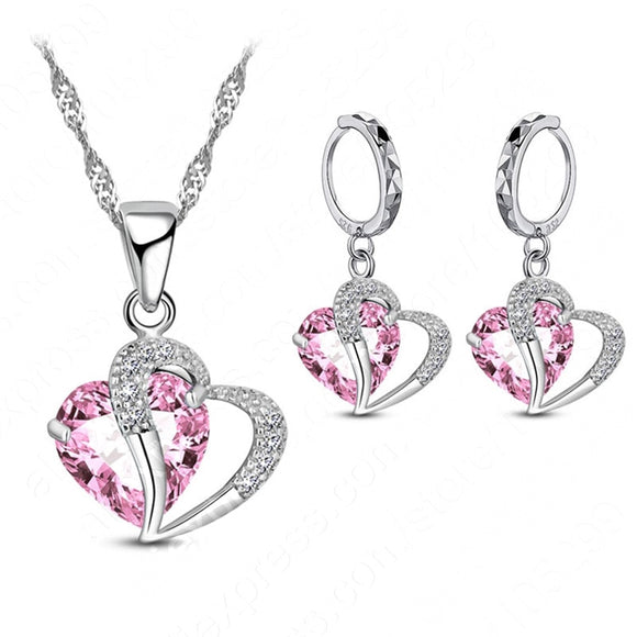 Luxury Sterling Silver Cubic Zircon Necklace