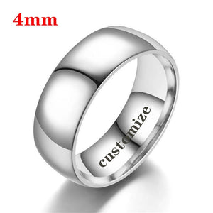 I LOVE YOU Engrave Couple Rings