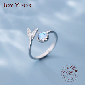 Cute Tail Moonstone Adjustable Ring