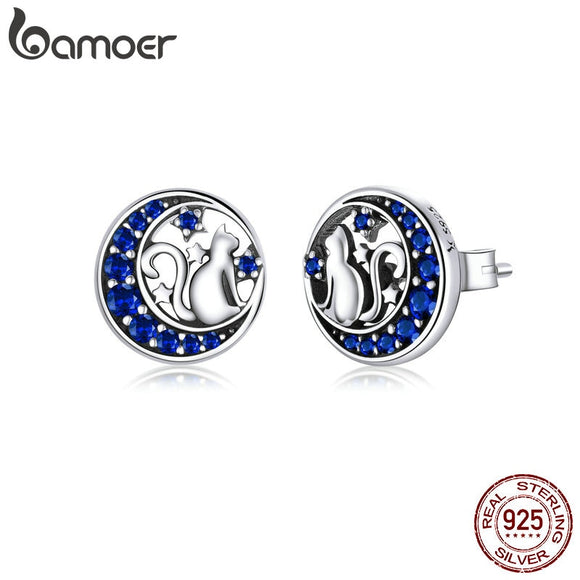 Moon Round Stud Earrings