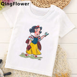 Funny Princess Kawaii Print T Shirt