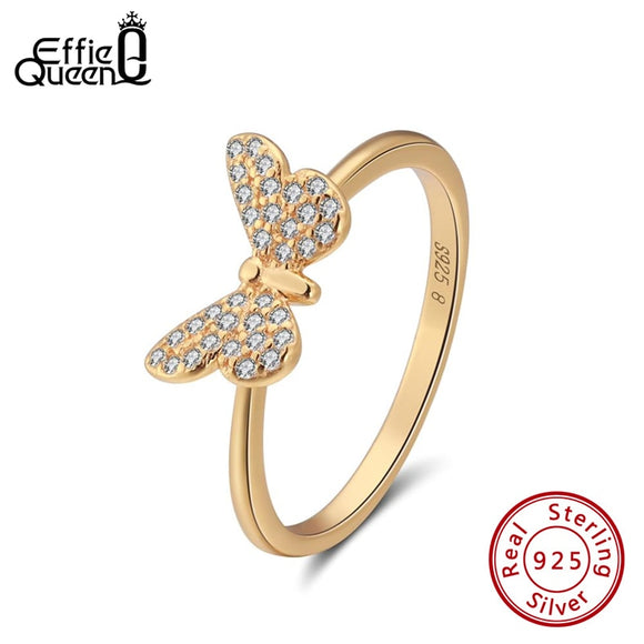 Cute Butterfly Cubic Zircon Ring