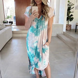 Casual  Loose Short Sleeve Maxi