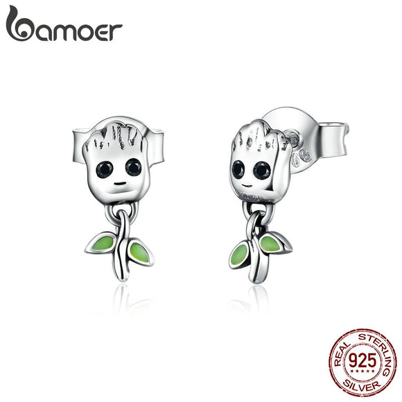 Little Tree Man Stud Earrings