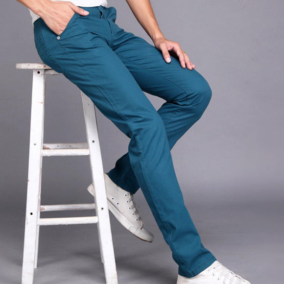 Cotton Straight Long Pants