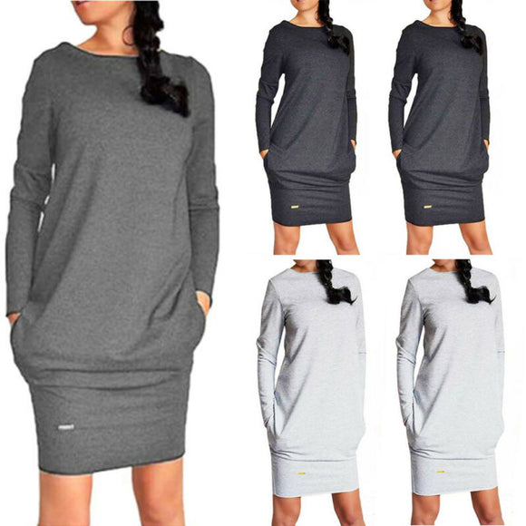 Casual Pullover Jumper Pockets Sweater