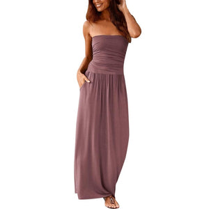Solid long Maxi