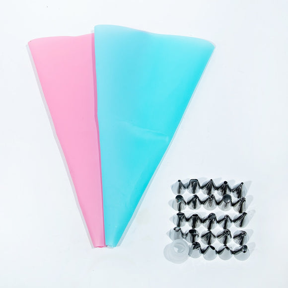 8pcs Silicone Pastry Bag