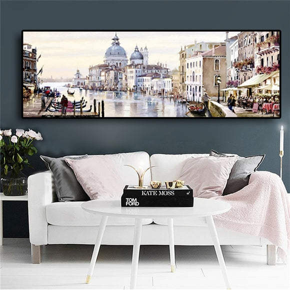 Abstract Venice City Landscape Poster