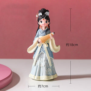 Cartoon Antique Chinese Costume Girls Miniatures