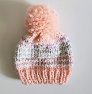 Open image in slideshow, Knit Beanies in Antique Pink