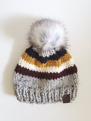 Open image in slideshow, Colour Banded Knit Beanies
