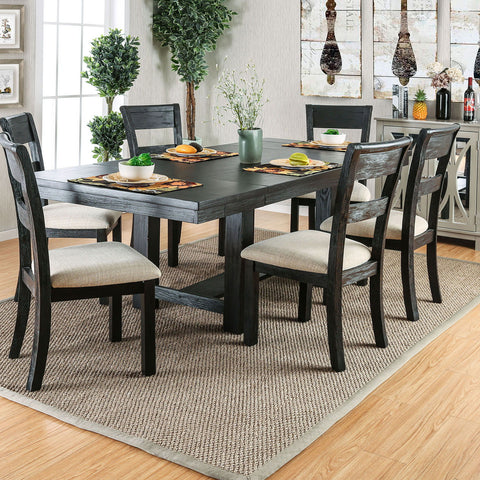 Thomaston - Dining Table - Wire-Brushed Black