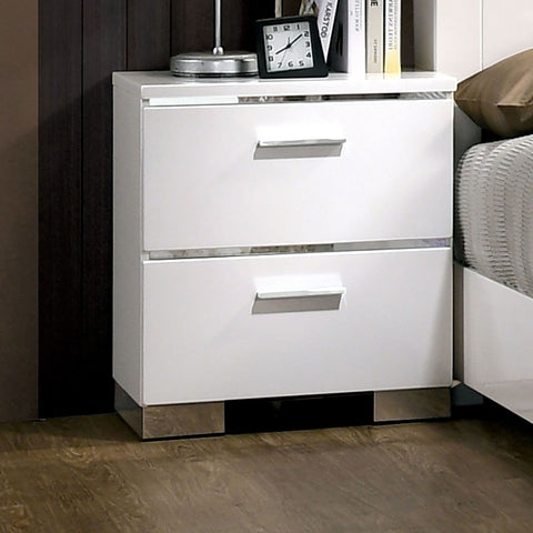 Carlie - Night Stand - White