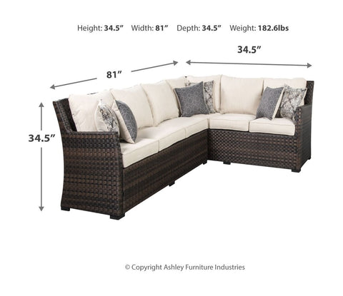 Easy Isle Sofa Sectional/Chair with Cushion (Set of 3)