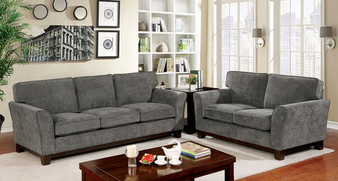 CALDICOT - Sofa + Loveseat - Gray