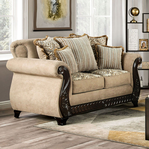 JOSELYN - Sofa + Loveseat - Tan