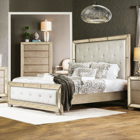 Loraine - Queen Bed - Champagne