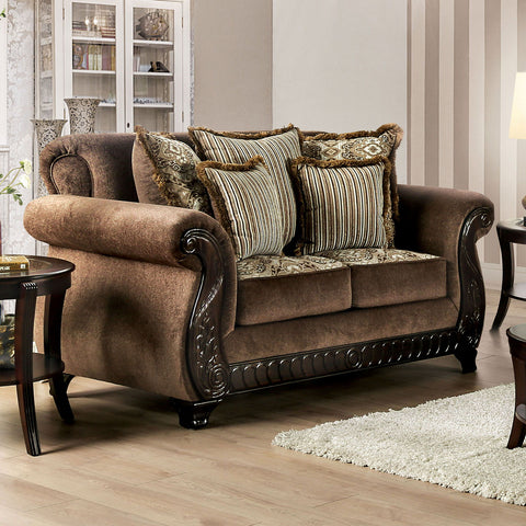 JOSELYN - Sofa + Loveseat - Brown