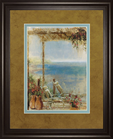 "34 in. x 40 in. ""Ocean Retreat Il"" By Stiles Framed Print Wall Art"