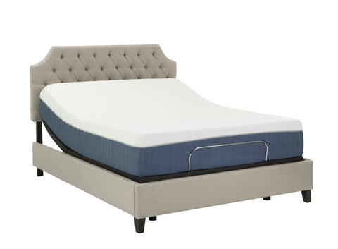 "12"" Medium Soft Gel Infused Full Memory Foam Mattress and Model P Adjustable Bed Base"