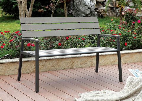 Isha - Outdoor Bench - Gray