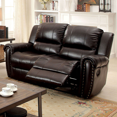 FOXBORO - Sofa + Love Seat + Recliner - Dark Brown