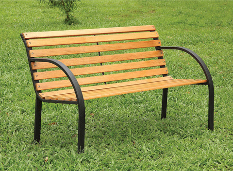 Dumas - Patio Wooden Bench - Oak