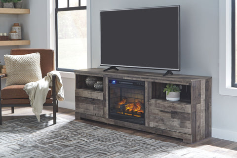 "Derekson 72"" TV Stand with Electric Fireplace"