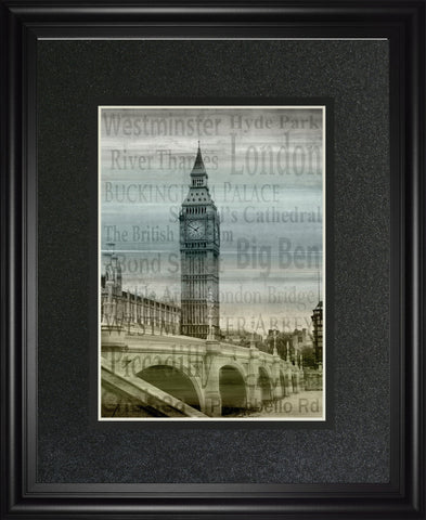 "34 in. x 40 in. ""Big Ben"" By Alan Lambert Framed Print Wall Art"