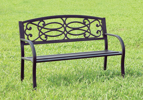 Potter - Patio Steel Bench - Black