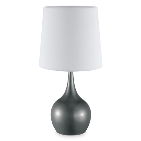 Edie - Metallic Grey Table Lamp - Gray