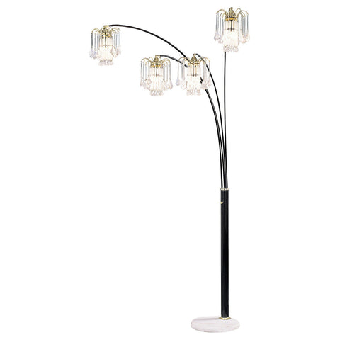 Elouise - Arch Lamp - Black