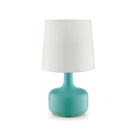 Farah - Matte Teal Table Lamp