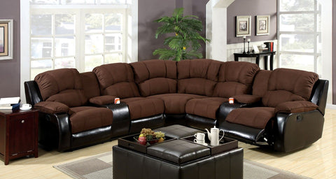 Wolcott - Sectional - Brown