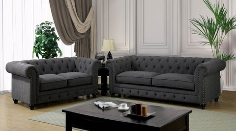 STANFORD - Sofa + Loveseat - Gray