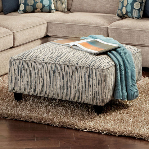 Eastleigh - Ottoman - Stripe Multi