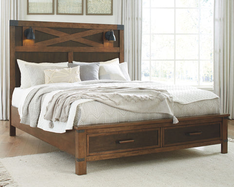 Wyattfield Panel Bed with Storage