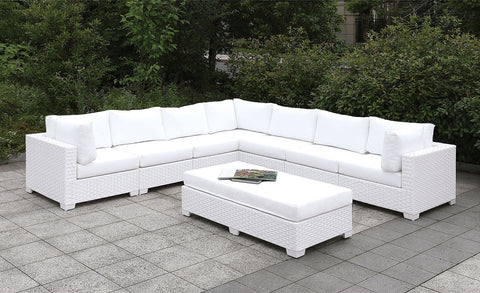 Somani - Sofa w/ 2 Pillows - White