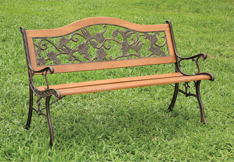 Alba - Patio Wooden Bench - Antique Oak