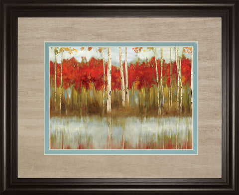 "34 in. x 40 in. ""The Edge"" By Allison Pearce Framed Print Wall Art"