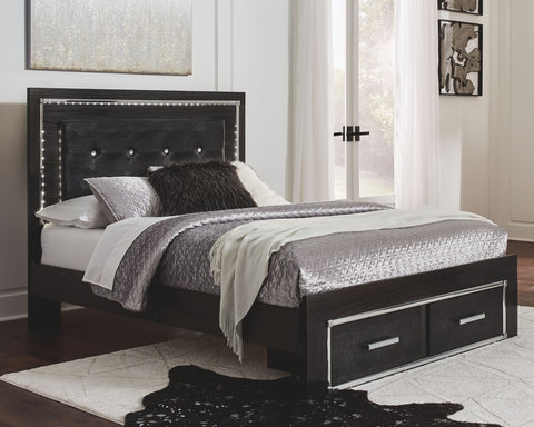 Kaydell Upholstered Panel Bed with Storage