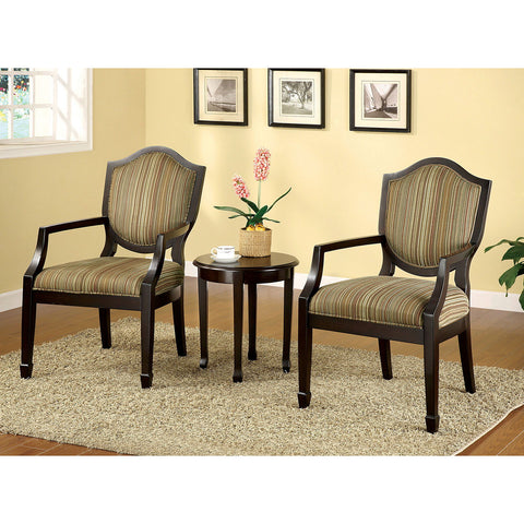 Bernetta - 3 Pc. Accent Table & Chair Set - Tan