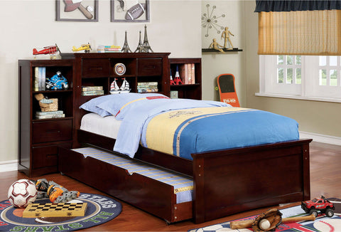Pearland - Twin Bed - Dark Walnut